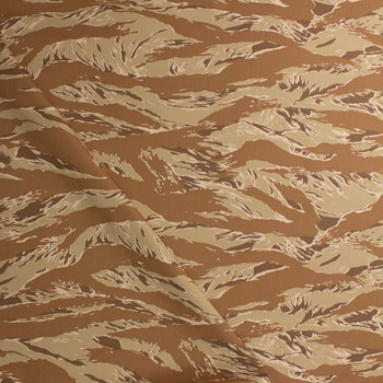 Tan Torn Style Camo Cotton Twill Fabric By The Yard - Wide shot