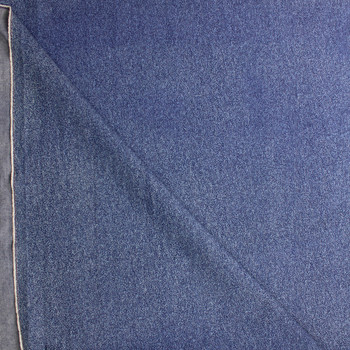 White Speckles on Indigo Midweight Denim Fabric By The Yard - Wide shot