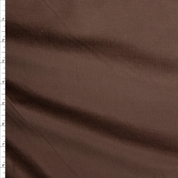 Chocolate Brown Midweight Baby Wale Corduroy Fabric By The Yard