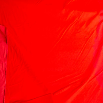 Neon Red Heavy Corduroy Fabric By The Yard - Wide shot