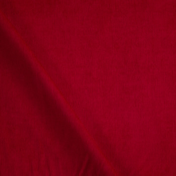 Dark Red Baby Wale Corduroy Fabric By The Yard - Wide shot