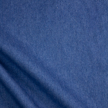 Medium Blue Washed Denim Fabric By The Yard - Wide shot