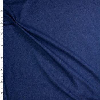 Indigo Blue Washed Denim Fabric By The Yard