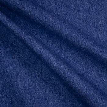 Indigo Blue Washed Denim Fabric By The Yard - Wide shot