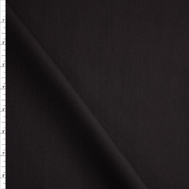 Black Stretch Midweight Bull Denim Fabric By The Yard
