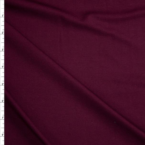 Burgundy Stretch Designer Rayon/Spandex Jersey Fabric By The Yard
