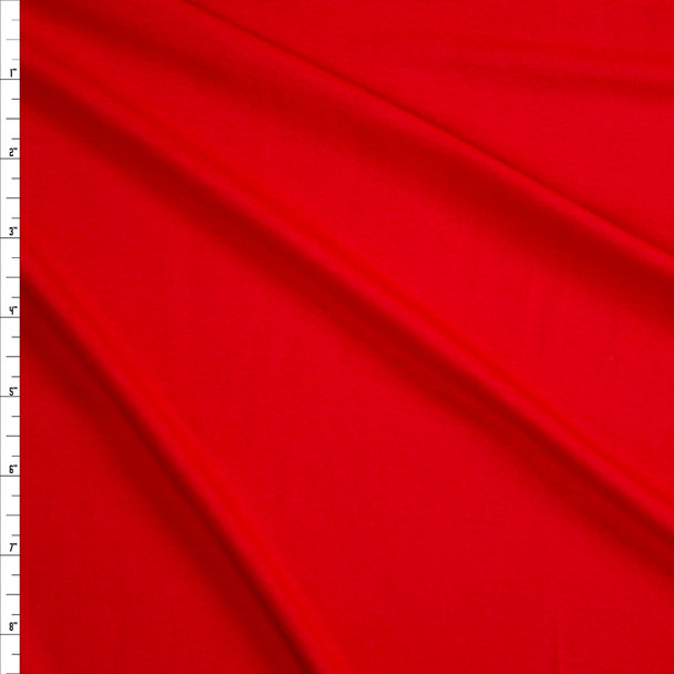 Bright Red Stretch Designer Rayon/Spandex Jersey Fabric By The Yard
