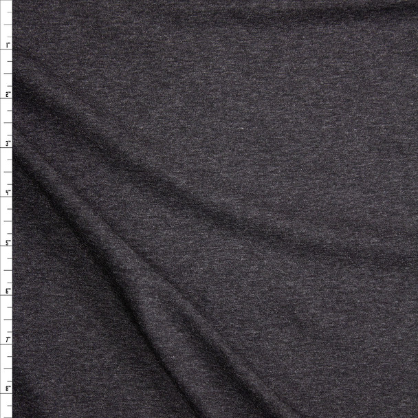Charcoal Heather Stretch Designer Rayon/Spandex Jersey Fabric By The Yard