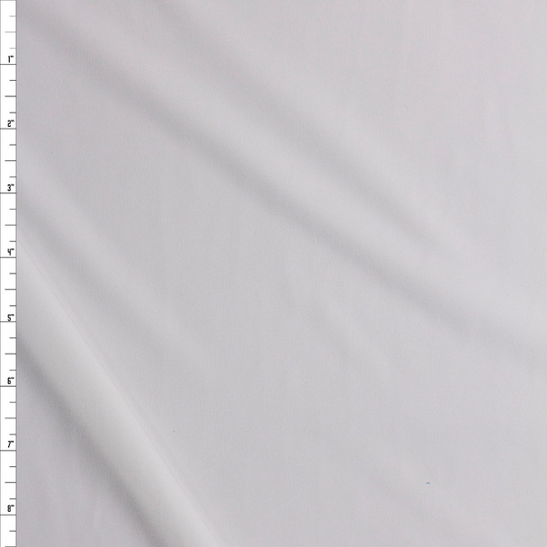 Offwhite Poly/Spandex Midweight Athletic Knit Fabric By The Yard