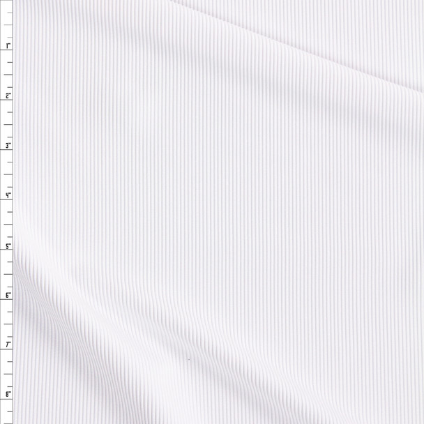 White Corded Midweight Nylon/Spandex Fabric By The Yard