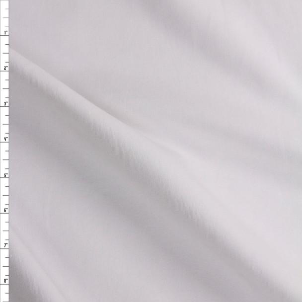 White Heavyweight Micro Ribbing Fabric By The Yard