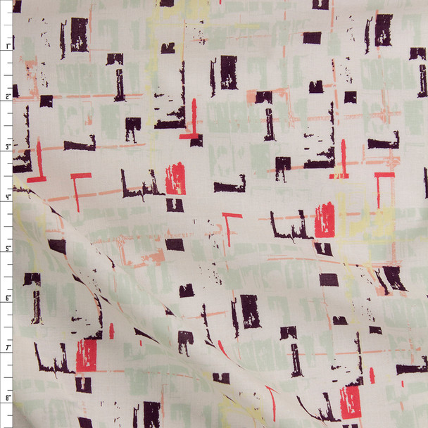 Tuner Tumble Viola Cotton Voile From 'Art Gallery Fabrics' Fabric By The Yard