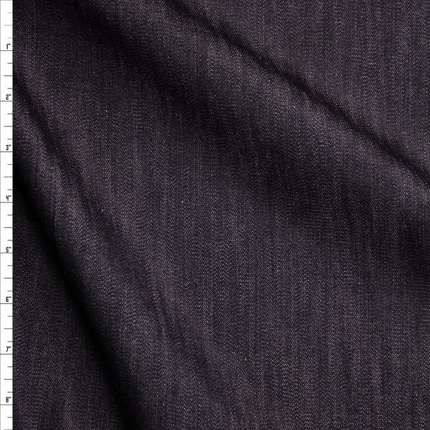 Black #4 Light Midweight Stretch Designer Denim from 'True Religion' Fabric By The Yard