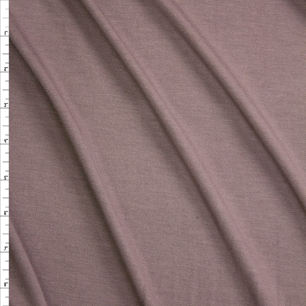 Taupe Lightweight Bamboo French Terry Fabric By The Yard