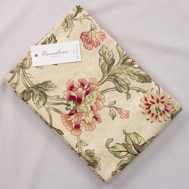 Boundless CDF Floral Cream (5y Bargain Cut) Fabric By The Yard