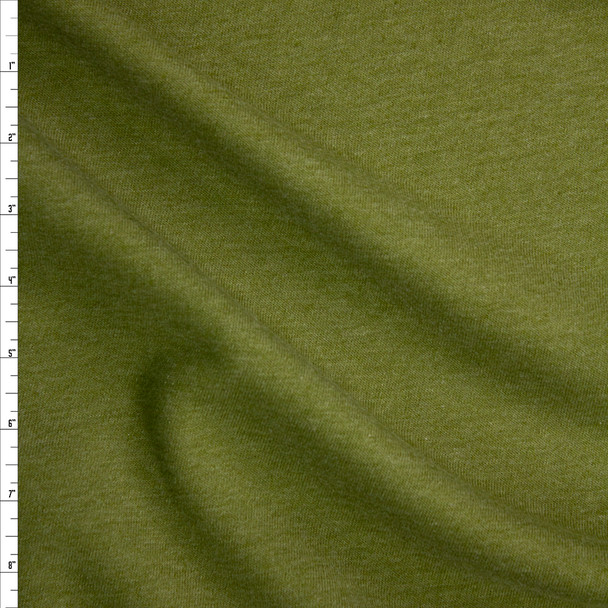 Olive Green Midweight Extra Wide Poly Sweatshirt Fleece Fabric By The Yard