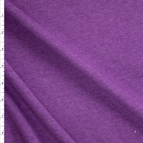 Purple Heather Midweight Extra Wide Poly Sweatshirt Fleece Fabric By The Yard