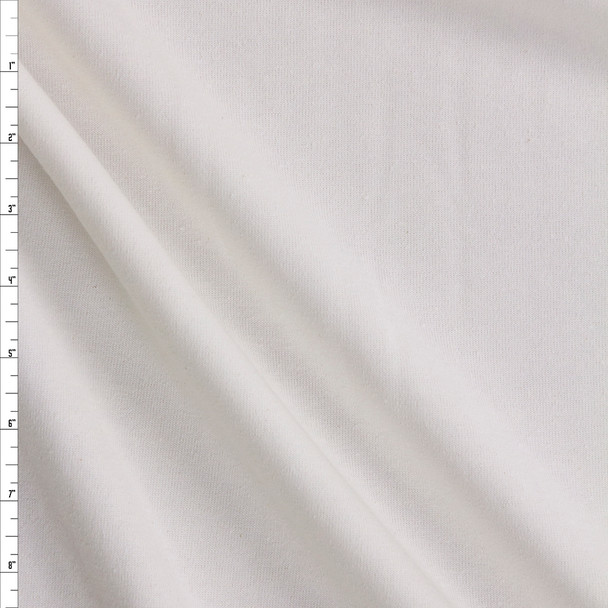 Warm White Midweight Extra Wide Poly Sweatshirt Fleece Fabric By The Yard