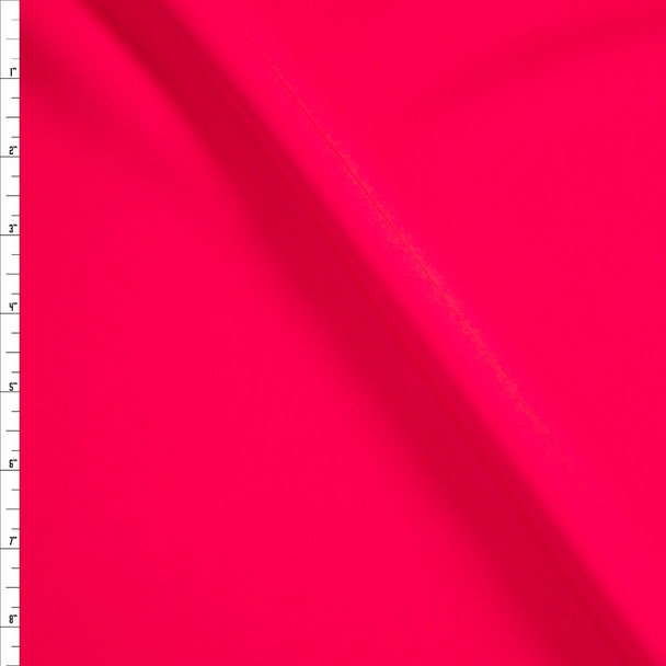Neon Coral Stretch Twill Suiting Fabric By The Yard