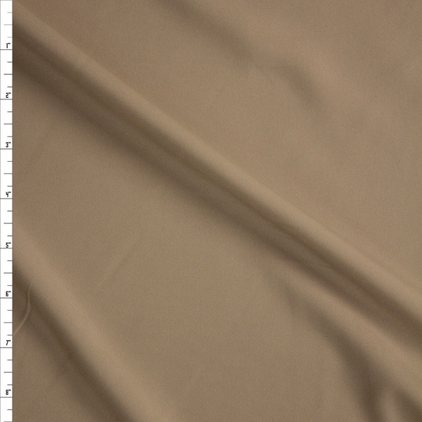 Tan Stretch Poly Lining Fabric By The Yard