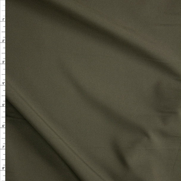 Olive Stretch Poly Lining Fabric By The Yard