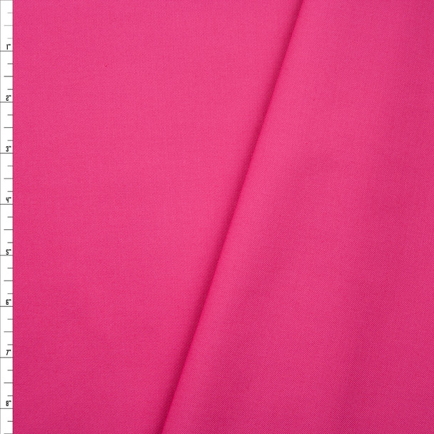 Hot Pink Poly/Cotton Midweight Twill Fabric By The Yard