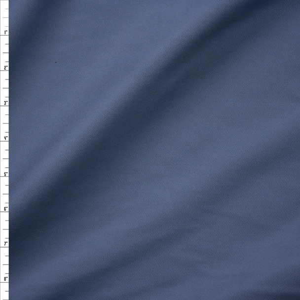 Slate Brushed Cotton Twill Fabric By The Yard