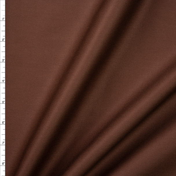 Brown Cotton Twill Fabric By The Yard