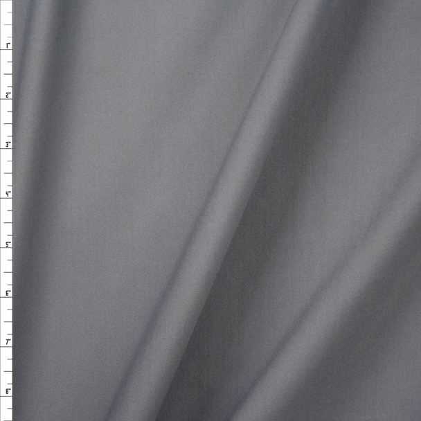 Grey Midweight Stretch Athletic Knit Fabric By The Yard