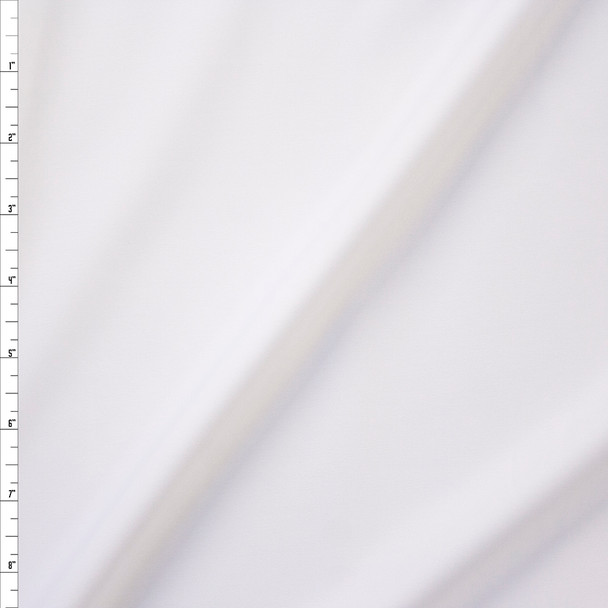 White Midweight Nylon/Spandex Fabric By The Yard