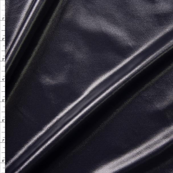 Black Wet Look Nylon/Spandex Fabric By The Yard