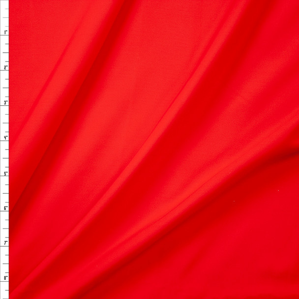 Bright Red Designer Midweight Nylon/Spandex Fabric By The Yard