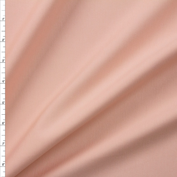 Light Peach Designer Midweight Stretch Ponte Fabric By The Yard