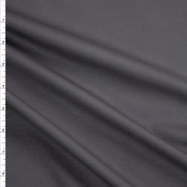 Charcoal Designer Midweight Stretch Ponte Fabric By The Yard