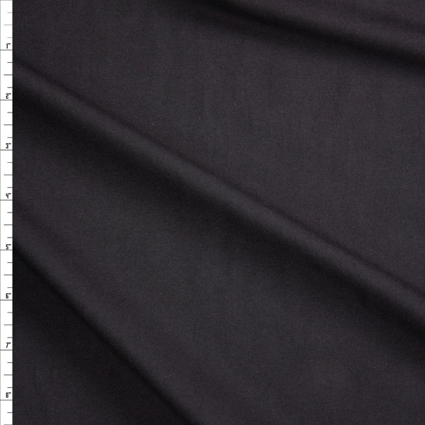 Black Midweight Cotton/Spandex Jersey Fabric By The Yard