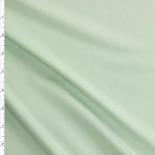 Mint Green Midweight Rayon Micro Rib Fabric By The Yard