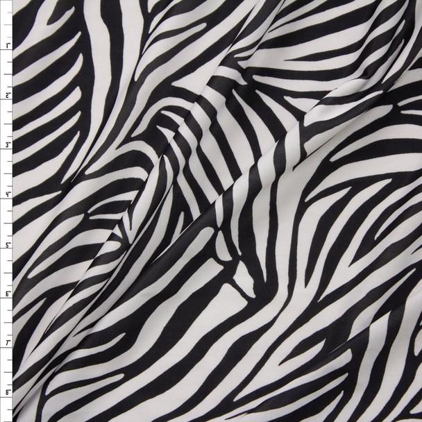Zebra Lightweight Stretch Poly Knit Fabric By The Yard
