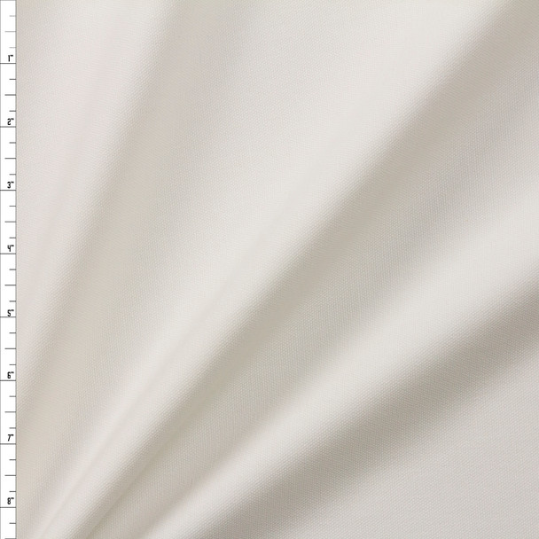 Warm White Midweight Brushed Cotton Canvas Fabric By The Yard