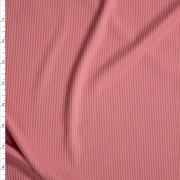 Pink Poly Rib Knit Fabric By The Yard