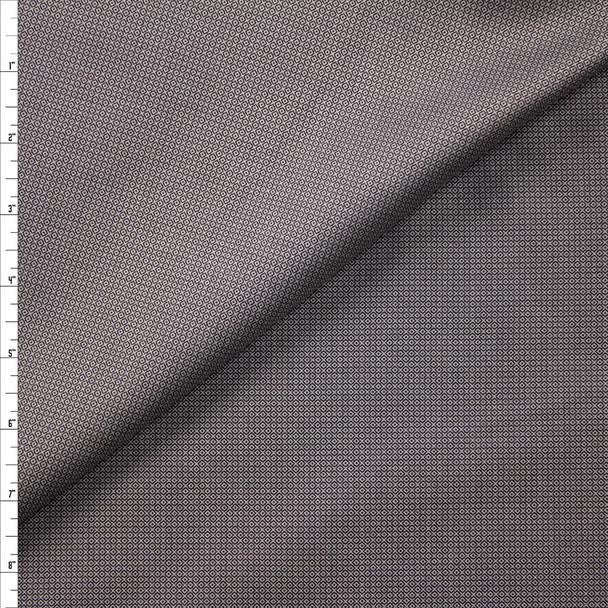 Grey and Black Diamond Pattern Designer Linen Fabric By The Yard