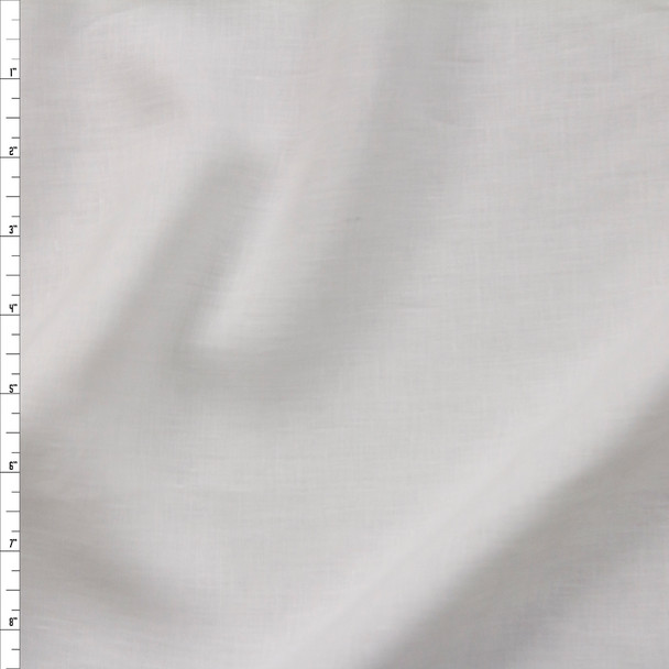 Warm White Soft Designer Linen Fabric By The Yard
