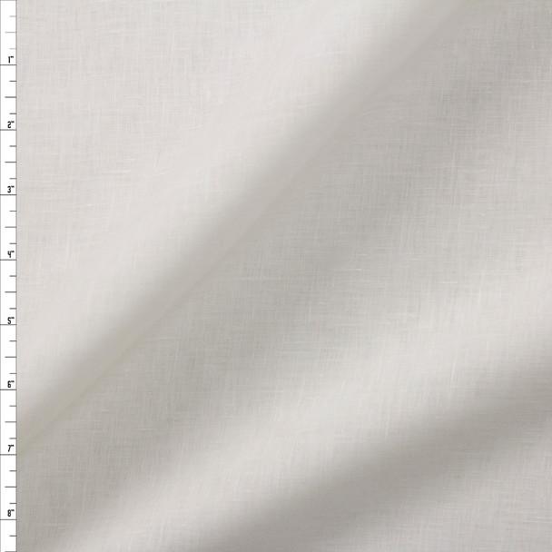 Warm White Lightweight Designer Linen Fabric By The Yard