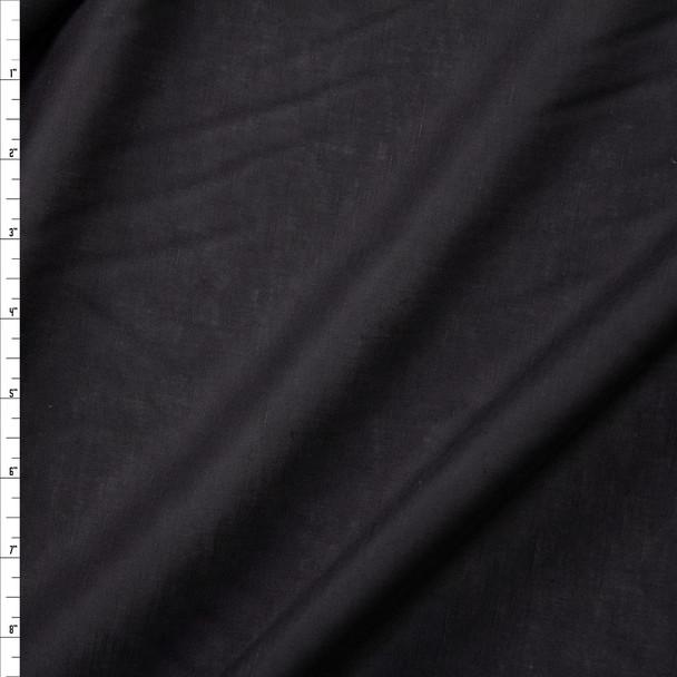 Lightweight Black Designer Linen Fabric By The Yard