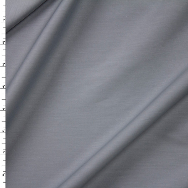 Grey Shirting Weight Cotton Sateen Fabric By The Yard