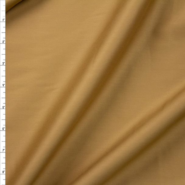Tan Shirting Weight Cotton Sateen Fabric By The Yard