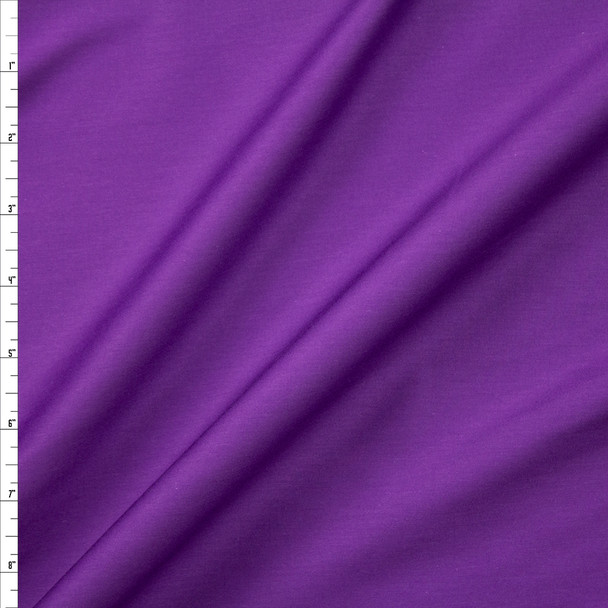 Purple Shirting Weight Cotton Sateen Fabric By The Yard