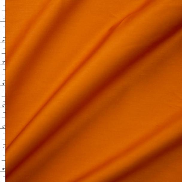 Burnt Orange Shirting Weight Cotton Sateen Fabric By The Yard
