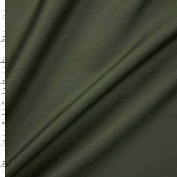 Forest Green Shirting Weight Cotton Sateen Fabric By The Yard
