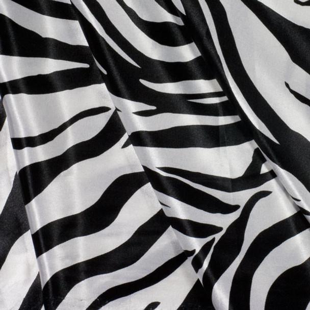 Zebra Charmeuse Satin Print
