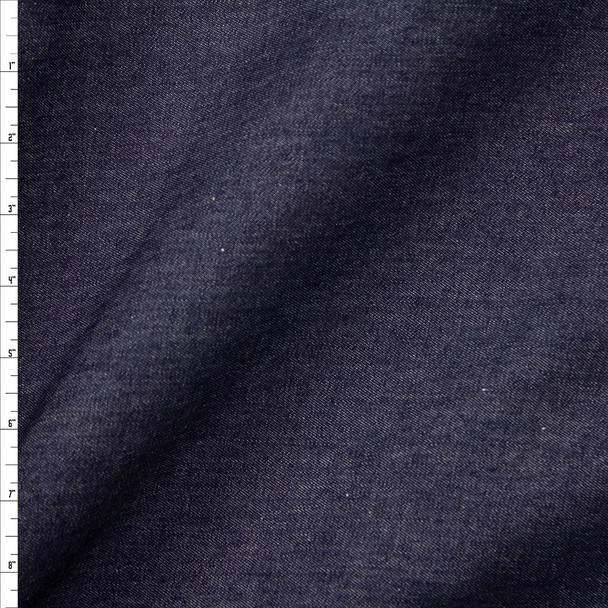 Dark Indigo Washed 10oz Designer Denim Fabric By The Yard